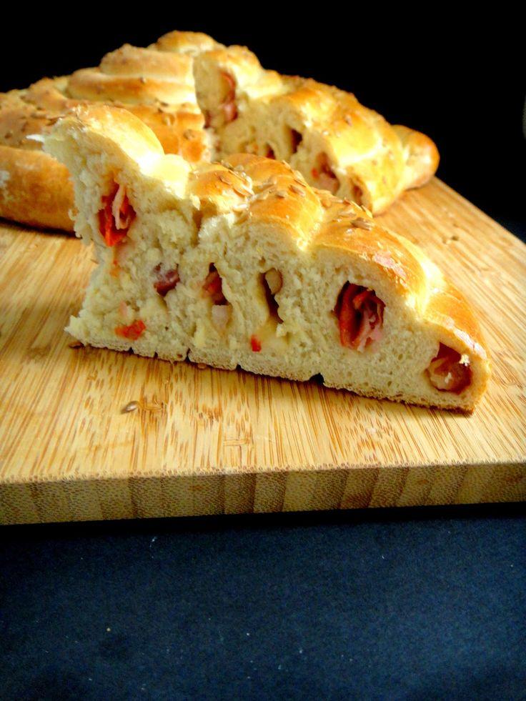 RAPA TACHOS: 9 º World Bread Day- Espiral de fiambre, bacon e paio