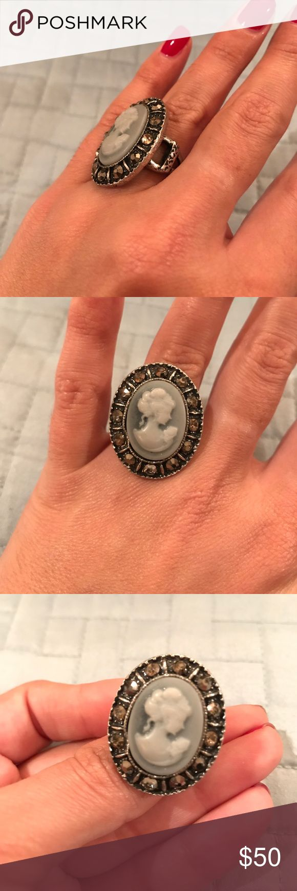 Antique Cameo Brooch Ring Antique Woman Brooch Jewelry Rings