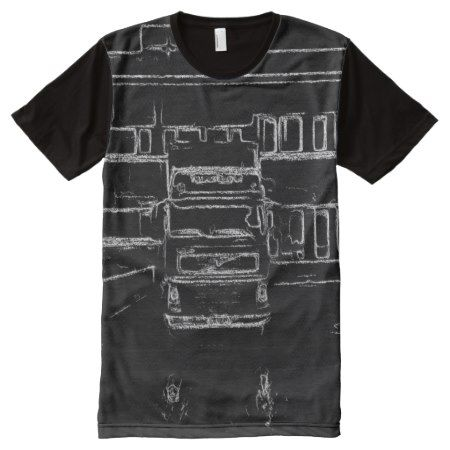 trailer and building drawing All-Over-Print shirt - tap to personalize and get yours