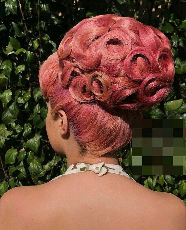 chignon choucroute des années 60 | Retro inspired hair, Up dos for medium hair, Gorgeous hair