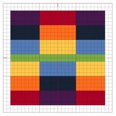 Cross Stitch Rainbow Block 3 Chart