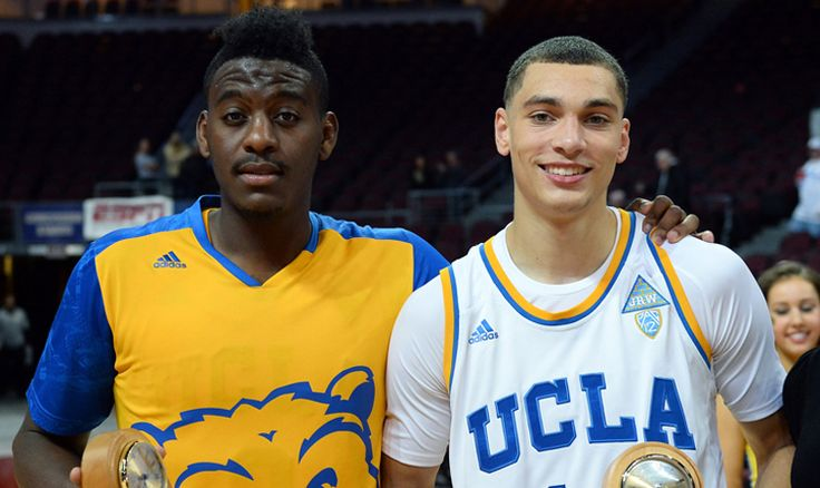 2 Bruins make their #NBA Debuts Tonight.....Against Each OTHER!!! ( A pack of Bruins will occupy the court Wednesday night when the Wolves take on the Memphis Grizzlies to kickoff the NBA season — Zach LaVine and Shabazz Muhammad for Minnesota and Jordan Adams for Memphis. And while the trio donned the UCLA uniform in recent years, the camaraderie will take a backseat for 48 minutes on Wednesday night).
