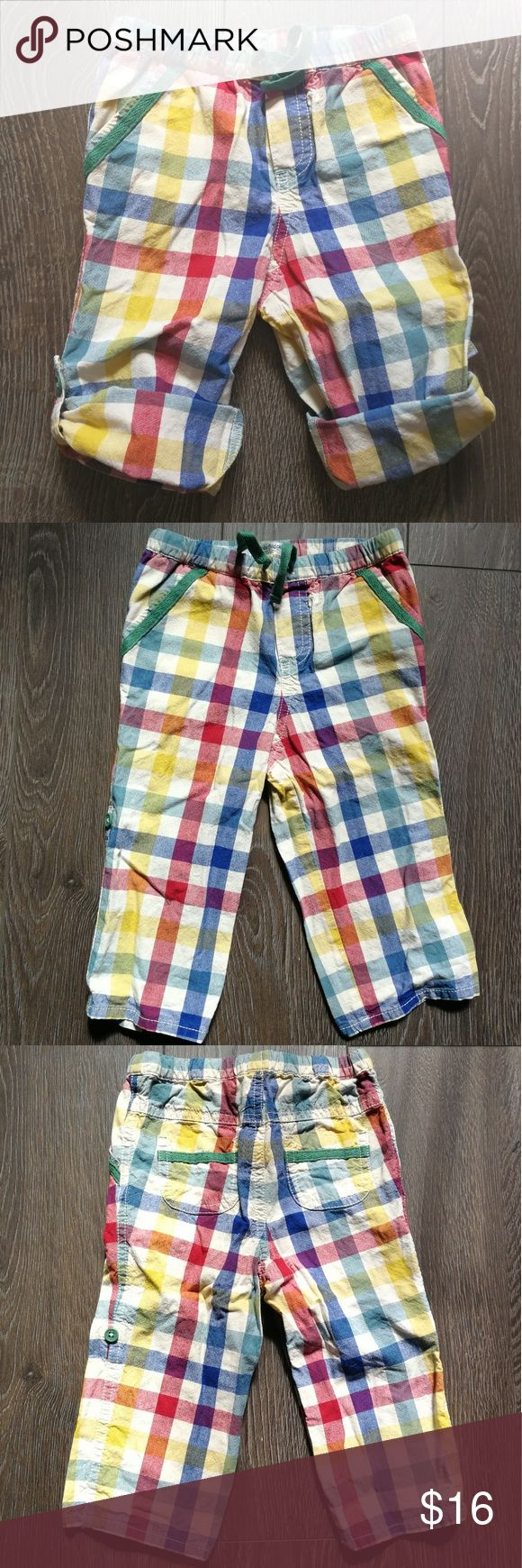 Excellent condition! Mini Baby Boden plaid crop Excellent condition! Super CUTE Baby Boden adjustable slacks to crops. 12-18M. Great for Spring! Freshly laundered and ready to wear! Bundle to SAVE for a discount. Price is Firm. Mini Boden Bottoms Casual