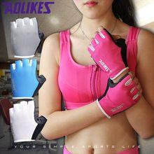 1 Par Mulheres/Homens Respirável Anti-skid Luvas Ginásio Body Training Edifício Esporte Haltere de Fitness Exercício Levantamento de Peso luvas(China (Mainland))