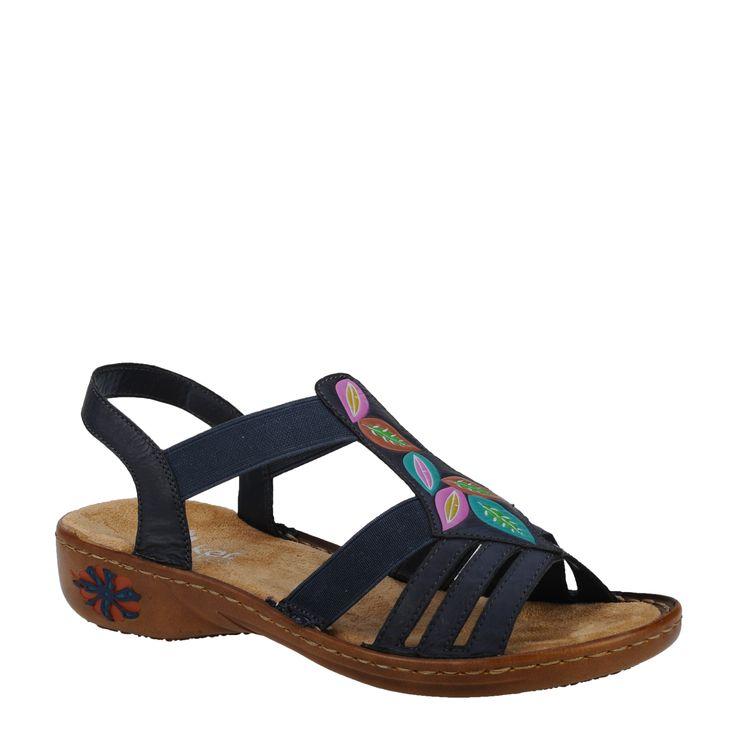 Sandale casual dama Rieker bleumarin