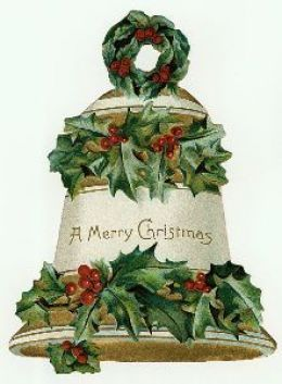 Free vintage Christmas bell image | http://wordplay.hubpages.com/hub/vintage-Christmas-images#