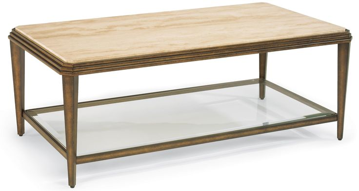 Seville Metal Cocktail Table With Marble Top By Flexsteel Furniture And Appliancemart