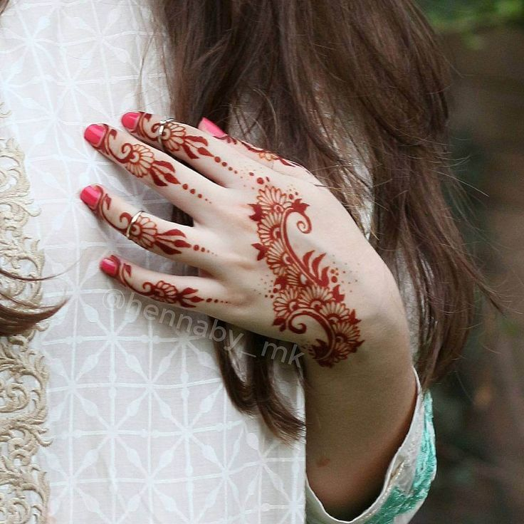 red henna mehndi design for bride ennaby_mk