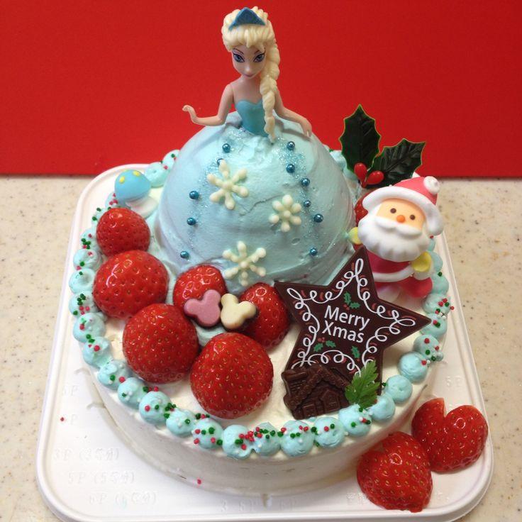 アナ雪 気まぐれパテ子の手作り クリスマスケーキ ドールケーキ