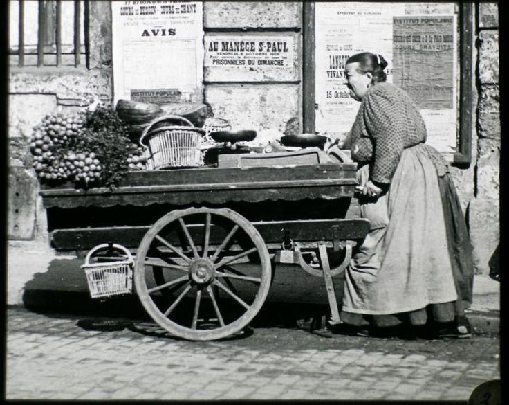 Marchande légumes Paris 1900-Photographie de Louis Vert, ste Française de photographie