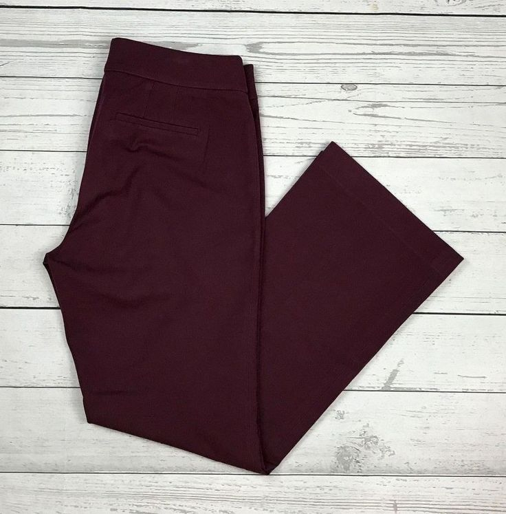 Ann Taylor Loft womens 10 purple Julie business career stretch dress pants #AnnTaylorLOFT #DressPants
