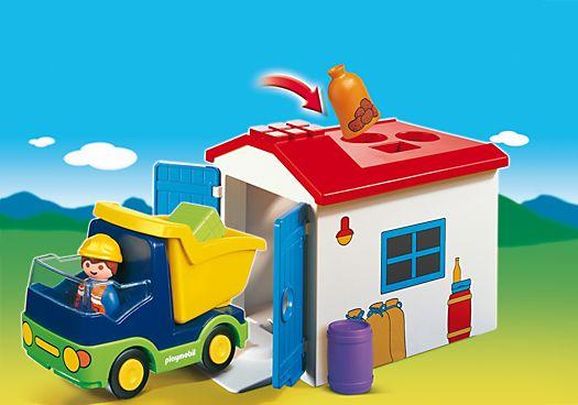 Camion avec garage - PLAYMOBIL® 1-2-3