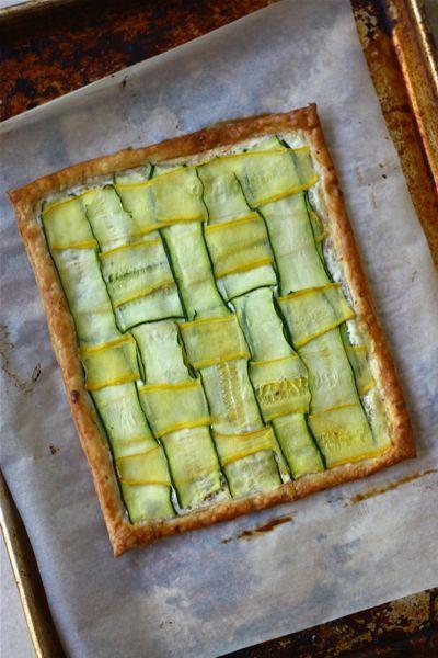 tarte aux courgettes et au fromage frais