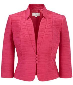 Petite Bright Pink Seam Detail Jacket