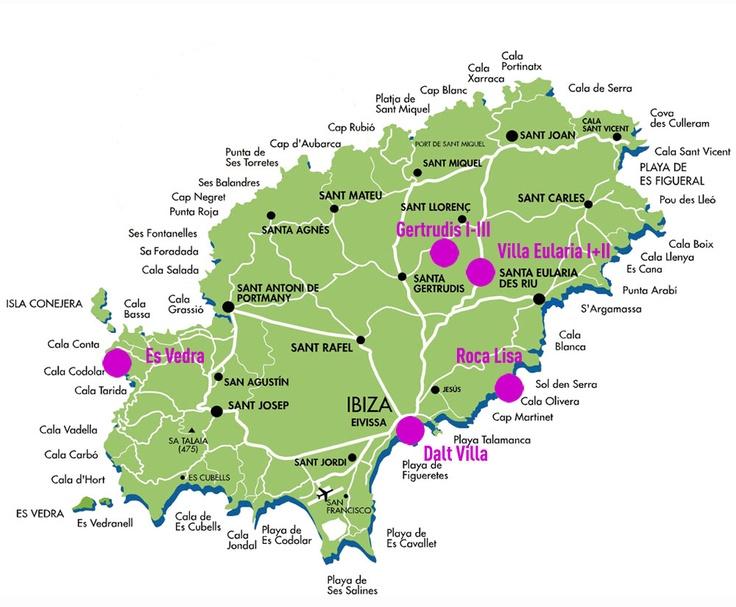 Map Of Ibiza Island Spain
