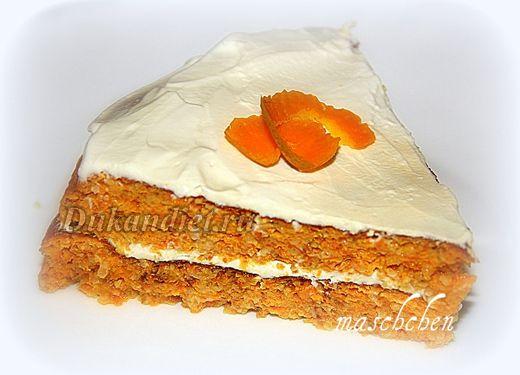 Морковный торт с апельсиновым ароматом | Диета Дюкана