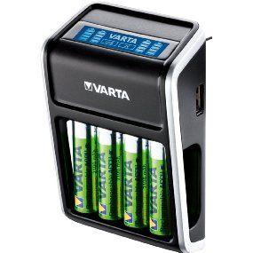 Varta LCD Plug Ladegerät für AA/AAA/9V und USB-Geräte (inkl. 4x AA 2100 mAh) schwarz#3d#android#printer#ipad#iphone