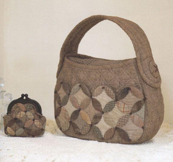 PDF Pattern Tutorial Shoulder bag handbag with coin by chomratshop