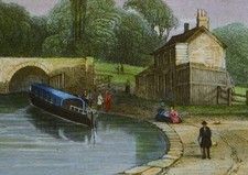 Antique print Kennet & Avon Canal, nr Bath
