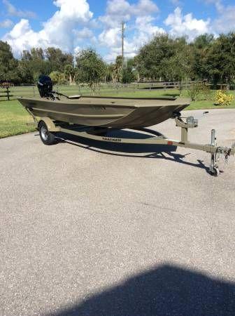 En venta de Ocasión Tracker 17 Aluminio Grizzly Jon boat de 2015