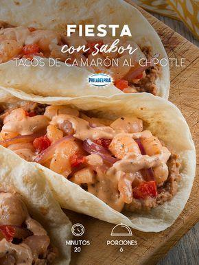 Para celebrar el cumpleaños de tu mejor amiga sorpréndela con estos Tacos de camarón al chipotle. #recetas #receta #quesophiladelphia #philadelphia #crema #quesocrema #queso #comida #cocinar #cocinamexicana #recetasfáciles #recetasPhiladelphia #recetasdecocina #comer #tacos #camarón #salsa #recetastacos #chipotle #chile