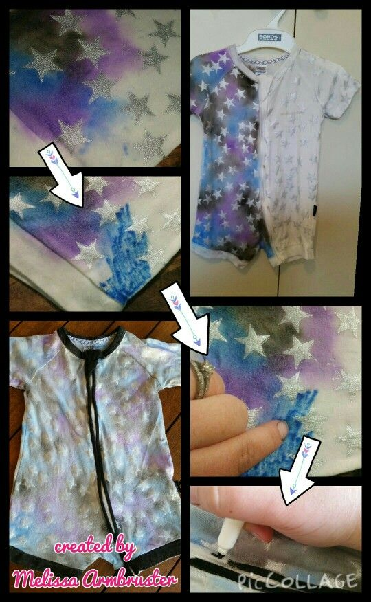 DIY Galaxy suit  using a short bonds limited edition star print wondersuit. This was super easy and the results are awesome!!