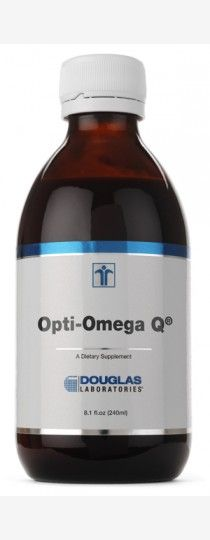 Opti-Omega Q by Douglas Laboratories - is a synergistic combination of ultrarefined, molecularly distilled liquid fish oil, plantsterols, and coenzyme Q10 in a convenient, great tasting natural orange-citrus flavored liquid. Opti-Omega Q with phytosterols may be a useful dietary adjunct for individuals wishing to supplement their diets with a unique formula to help support cholesterol and cardiovascular health.