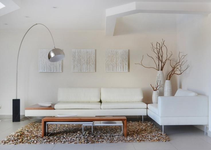 """""""Bosque de Arboles"""".   Hall de acceso Edificio Astra II, comuna de Las Condes.   Proyecto realizado por Inmobiliaria Astra en conjunto con sus decoradores."""