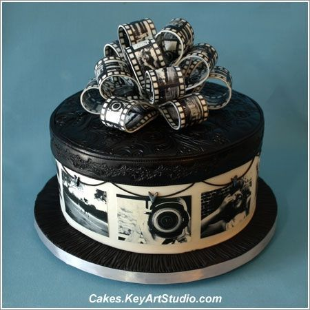 Black And White Cakes For Birthday