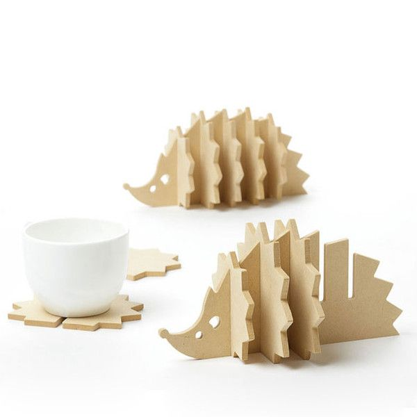 The hedgehog coaster is adorable to bring creativity at your home decoration.