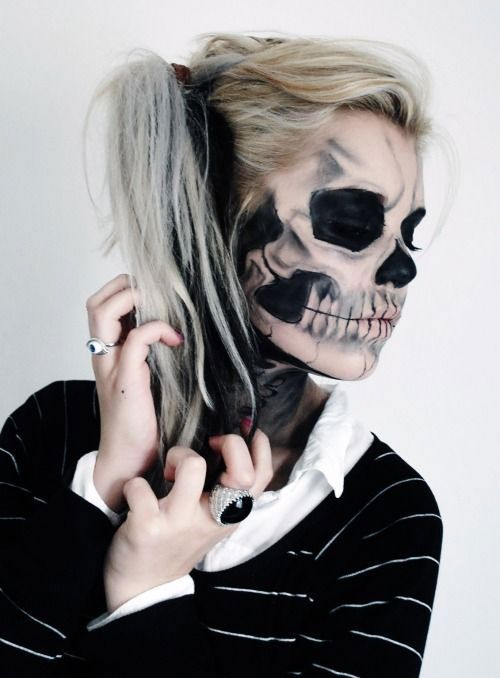 i am unfolding before you 12 halloween skeleton make up ideas looks of 2014 for girls i am sure this post will open up ideas and give you new - Halloween Skeleton Makeup Ideas