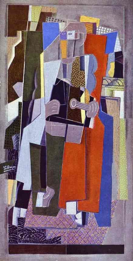 Braque, Georges | The Musician | Oil on canvas | 1917-18 | Kunstmuseum, Basel, Switzerland