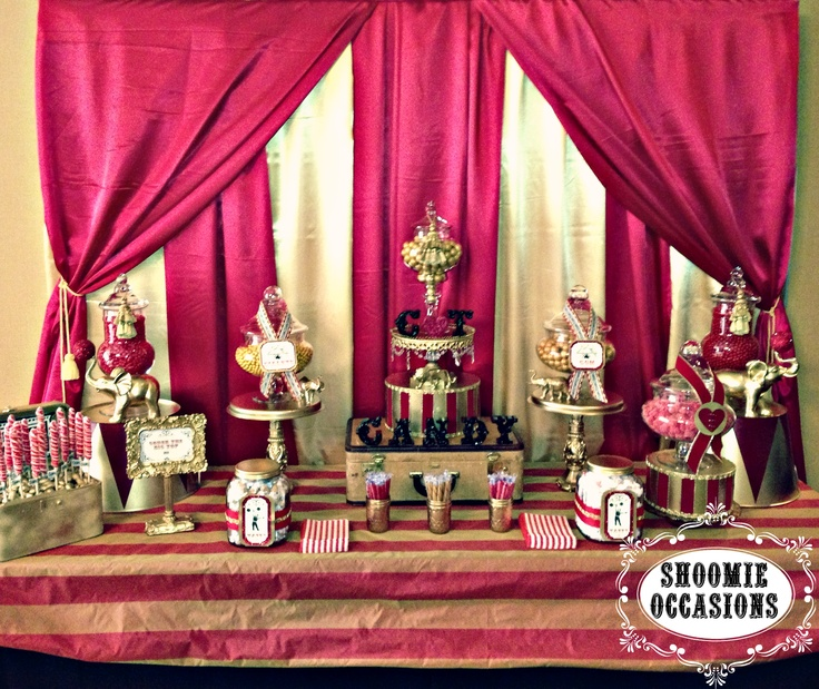 Vintage Old World Circus Candy Buffet