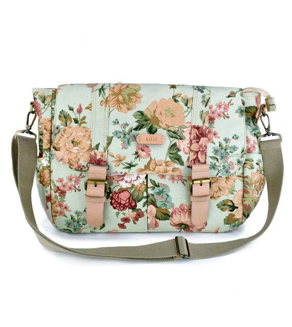 laptop bag,diaper bag,notebook bag,school bag, women canvas bag,monogram messenger bag, floral diaper bag,monogram diaper bag,