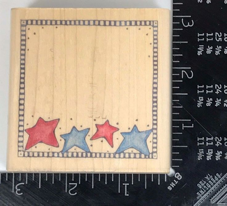Rubber Stamp Frame STAR BOX Border Edge Picture Notepad W98 #Unbranded