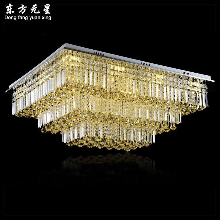 Led Crystal Chandelier Light Project Crystal Lamp Rectangle Chandelier Decorative  Lighting For Hotel Livingroom Part 68