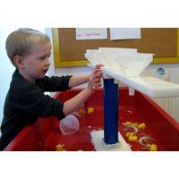 Kodo Kids™ Stationary Funnel Stand-Transform your sensory tables from rarely used to an everyday activity! More information available at www.wintergreen.ca