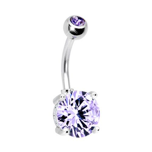 Belly Ring Big Cubic Zirconia Purple Belly Button Ring 14G + 1 Free Belly Retainer BodyJ4You - Belly Rings,http://www.amazon.com/dp/B00DUFFD0O/ref=cm_sw_r_pi_dp_e9b.rb0HG7VBH77G