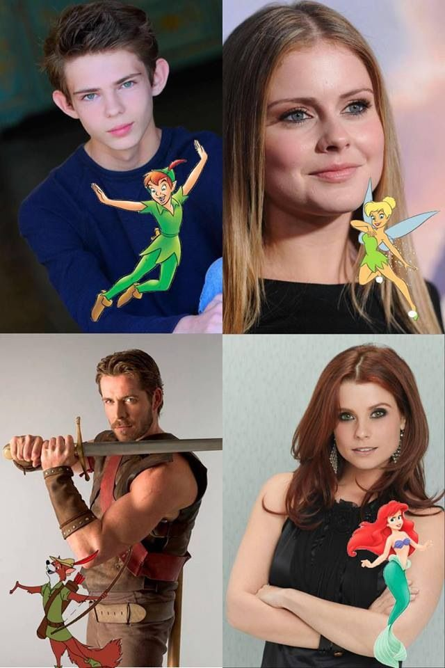 New Characters in Once Upon a Time - Peter Pan played by Robbie Kay, Tinker Bell played by Rose McIver, Robin Hood played by Sean Maguire & Ariel played by JoAnna Garcia Swisher. #OnceUponATime #OUAT #TV_Show