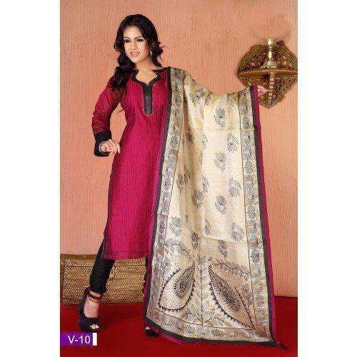 Craftsvilla Com Pashmina Suits: Red Pure Silk Salwar Suit