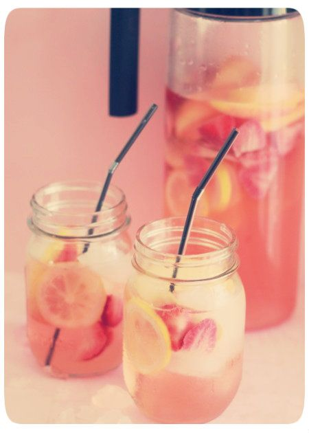 a bunch of good looking drinks! Can't wait to try this white strawberry lemon sangria!