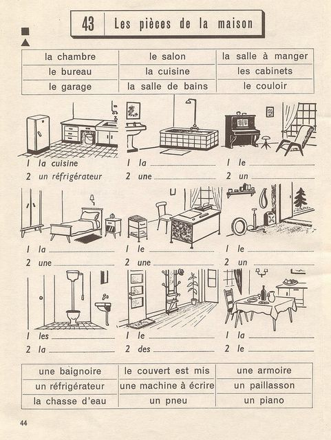 62 best Vocabulaire - La maison images on Pinterest Vocabulary - Faire Les Plans De Sa Maison En D