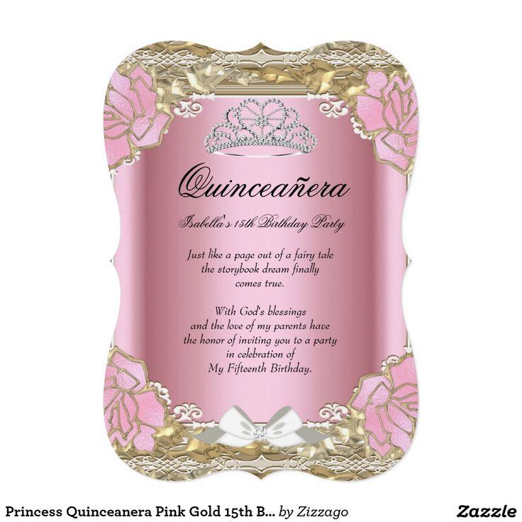 286 best Quinceanera Invitations images on Pinterest   Quinceanera ...