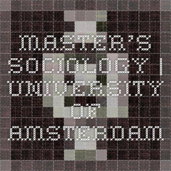 Master's Sociology  | University of Amsterdam