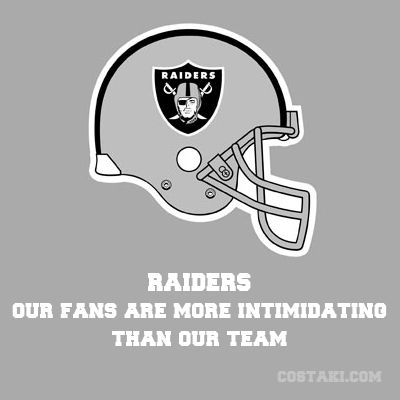 New Team Slogan: OAKLAND RAIDERS