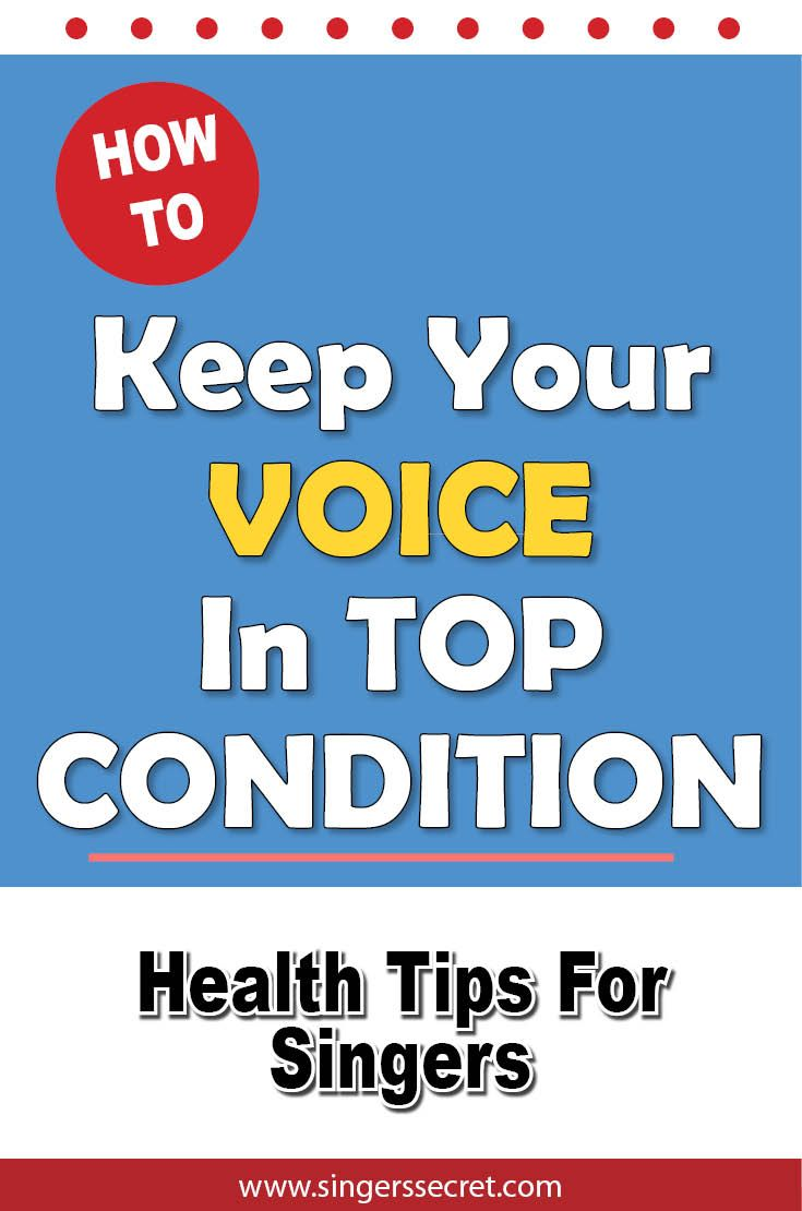 vocal tips Voice problems usually are associated with hoarseness (also known as roughness), instability, or problems with voice endurance if you are unsure if you have an unhealthy voice, ask yourself the following:.