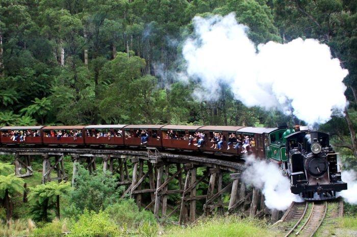 Puffing Billy steam train, Victoria