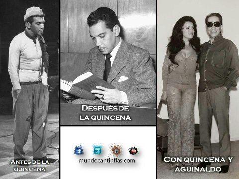 Cantinflas antes, después de la quincena y con aguinaldo