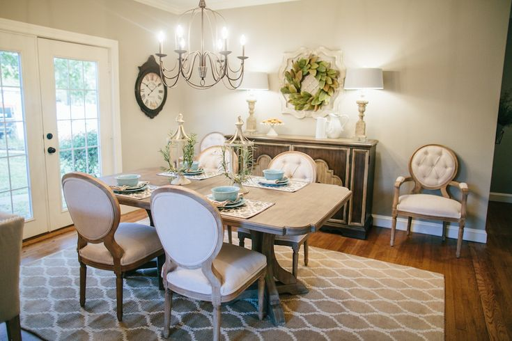 127 best dining images on pinterest magnolia farms for Joanna gaines dining room designs