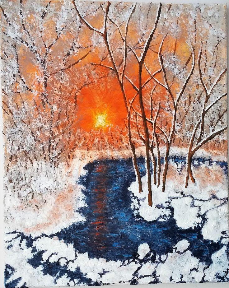 soleil d'hiver 16x20
